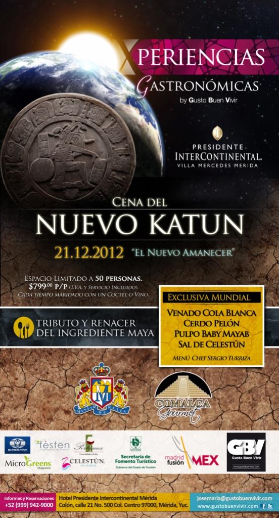 Invitacion Cena Nuevo Katun logo turismo