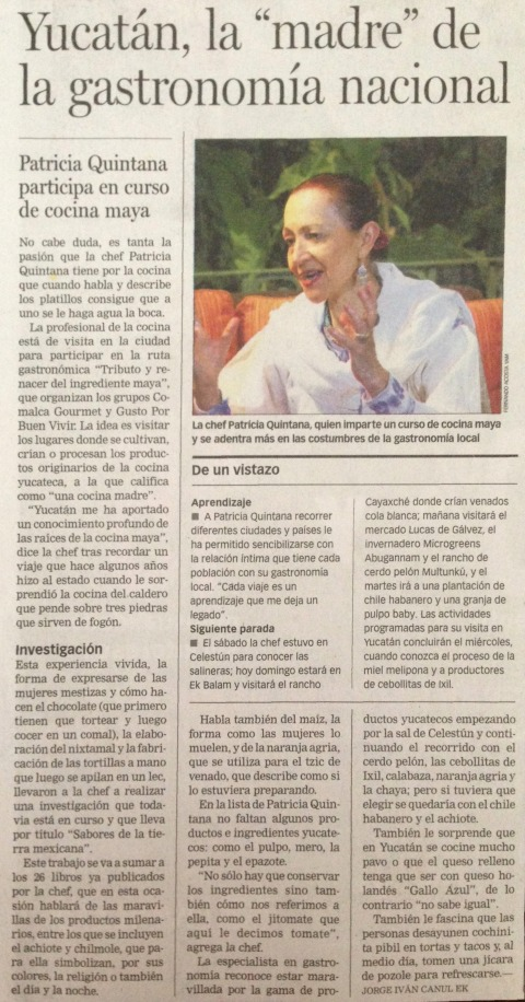 Periódico Patricia Quintana