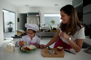 Chef Karen Leon e hija