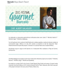 Chef Albert Balaguer